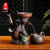 Tea Leakage Tea Filter creative little monk Purple Sand Kung Fu Tea Lane accessories tea Maker Six gentleman set