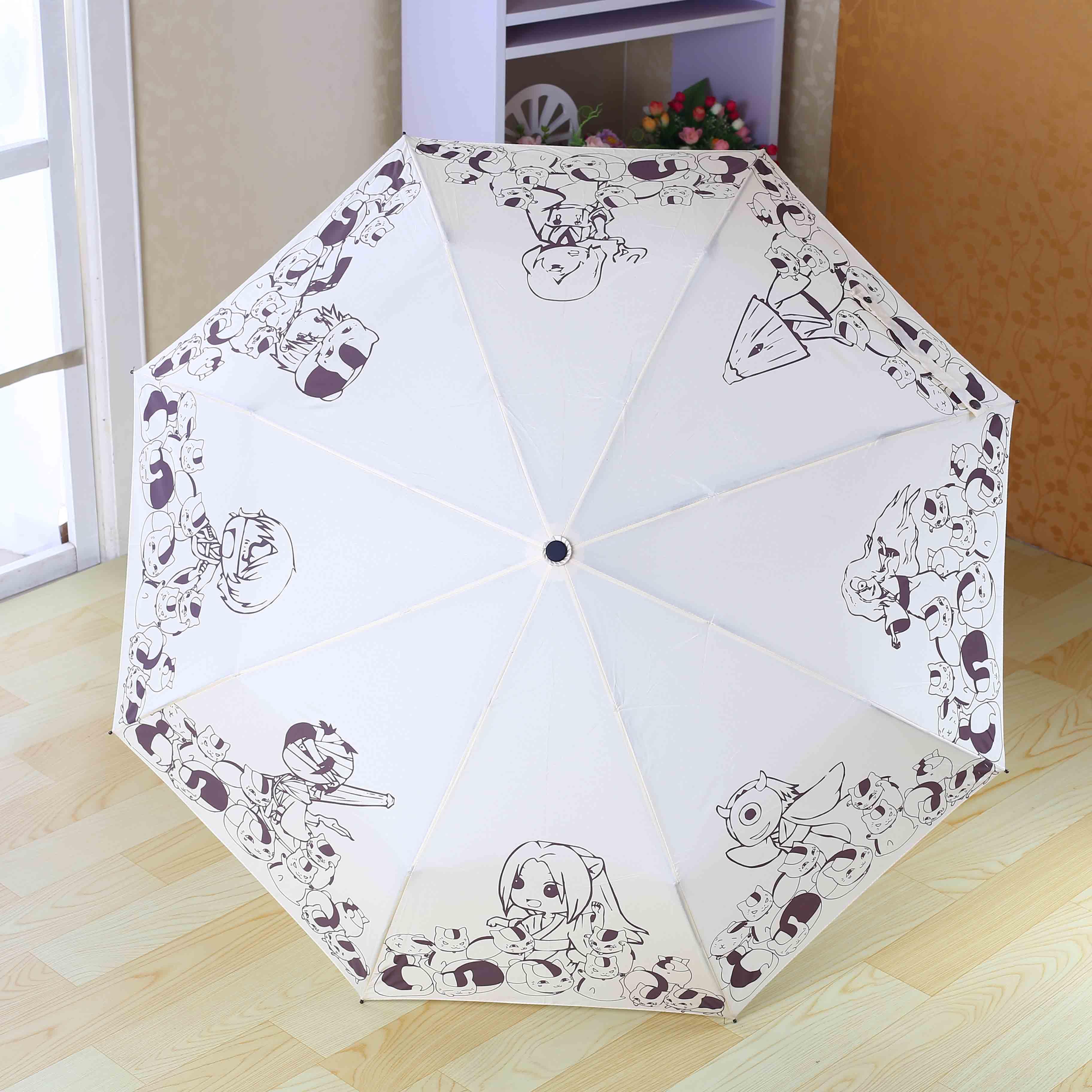 夏目友人帐雨伞 二次元动漫周边伞 贵志斑猫咪老师娘口三三晴雨伞
