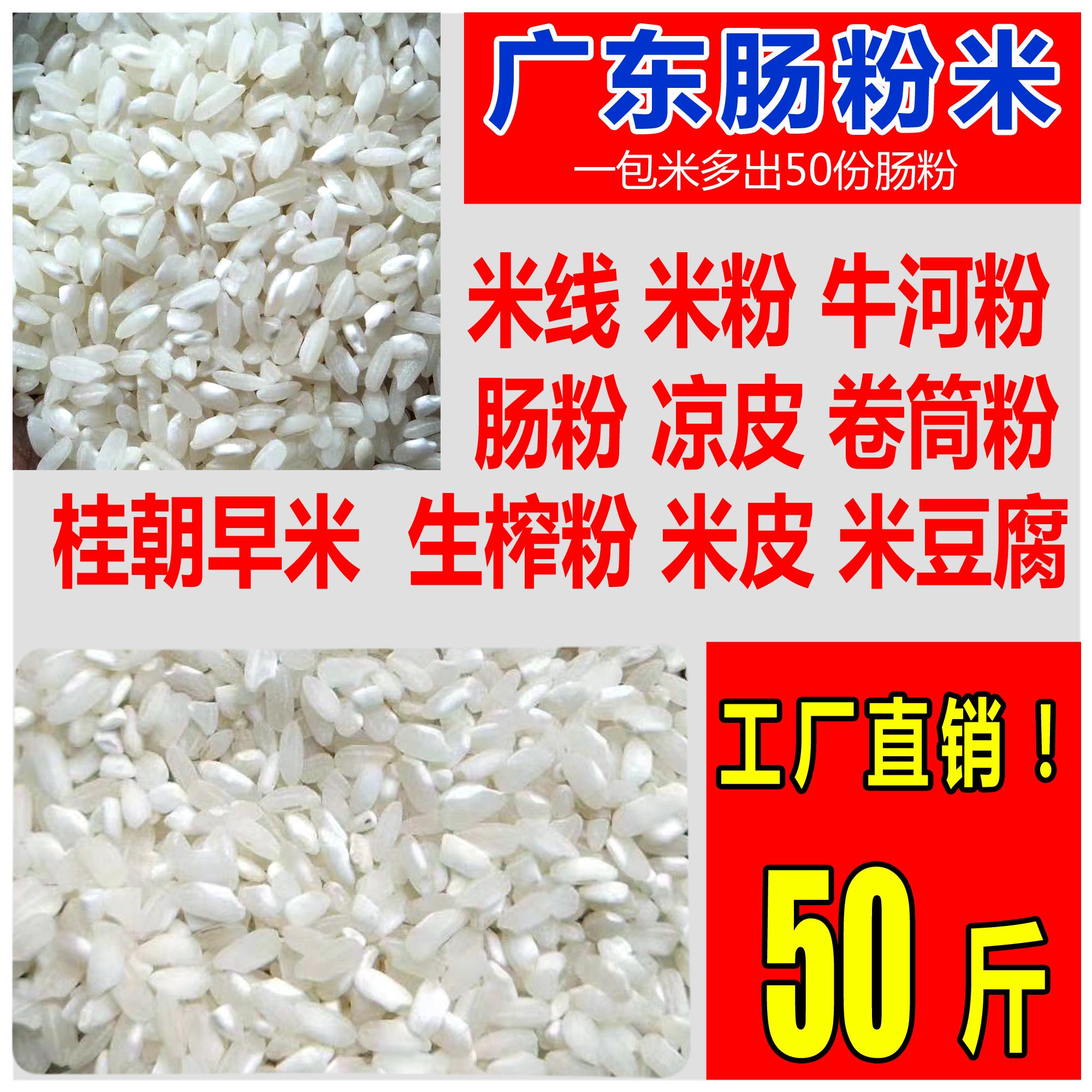 广东肠粉专用大米圆粒陈米河粉米线米皮米豆腐无粘早籼米50斤包邮