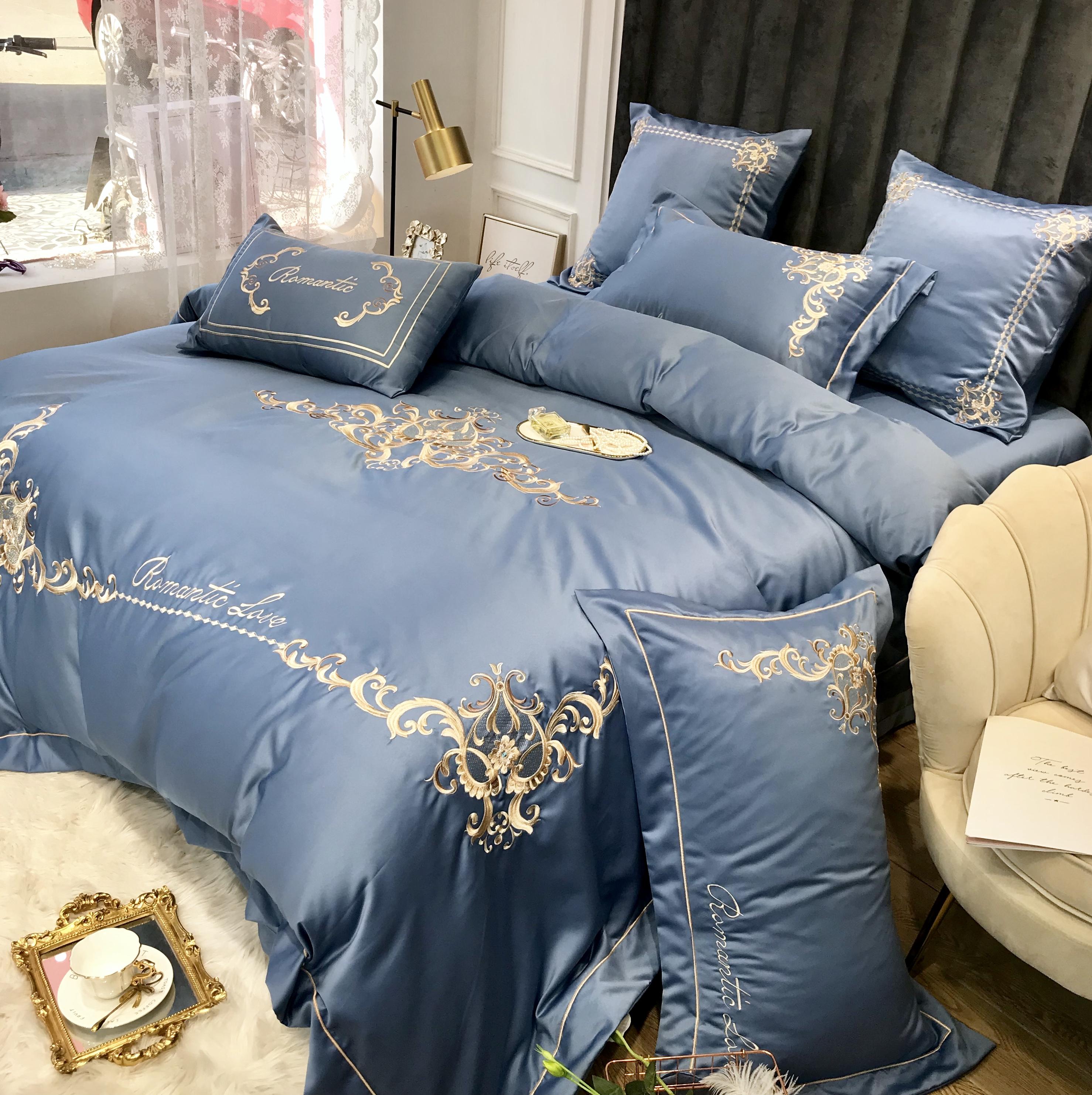 奢华高档真丝床上用品全棉纯棉被套248.00元包邮