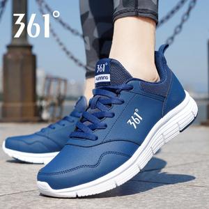 361运动鞋男鞋2021秋季新款361度黑色皮面休闲鞋子男士跑步鞋Y