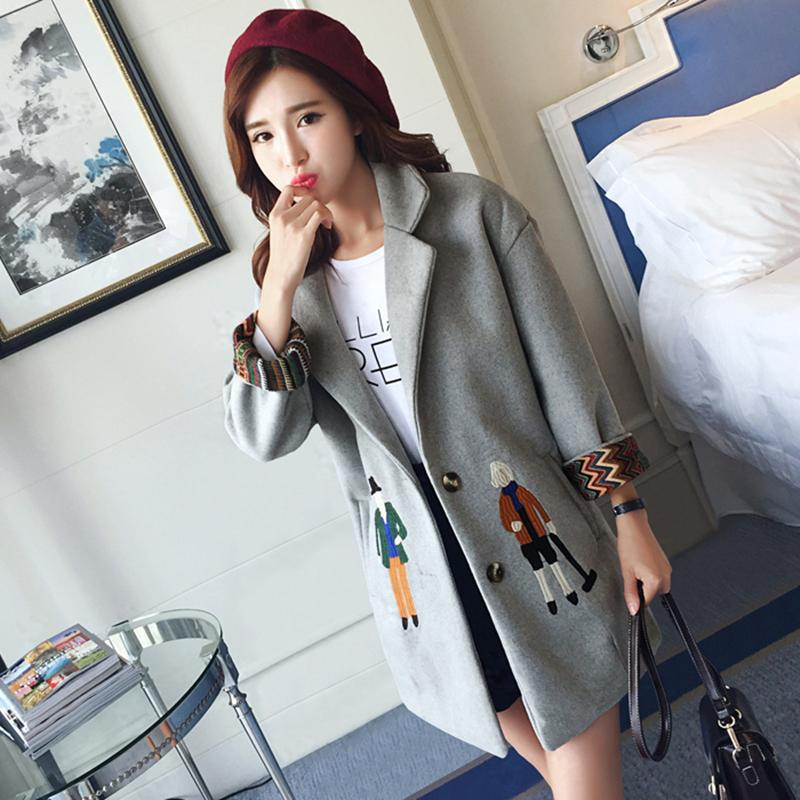 Short and petite womens dress is high with 150cm155 mid length woolen coat for students in autumn and winter 145