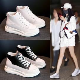 小白鞋女2020新款内高帮厚底真皮鞋子百搭韩版学生女鞋潮透气图片