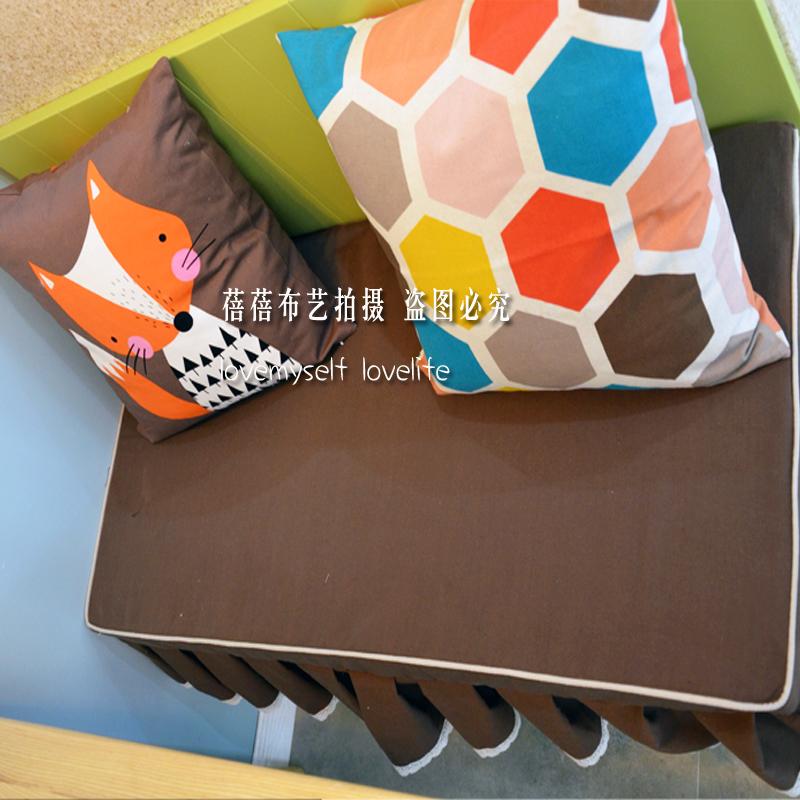 咖色棕色飘窗垫卡定做高密海绵座垫11月26日最新优惠