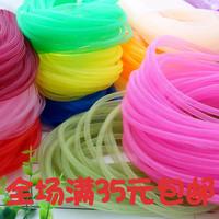 查看6mm彩色弹力网带圆网管装饰用品服装饰品头饰弹性网纱辅料价格