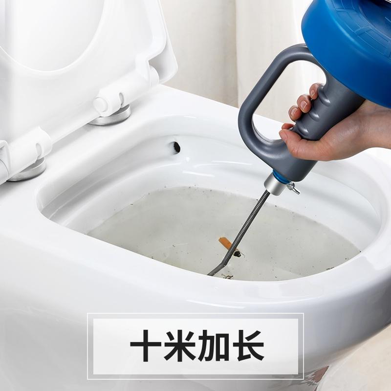 马桶疏通下水道专用工具毛发堵塞通厕所一炮通钢丝簧管道万能神器