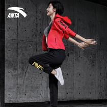 安踏套装女运动套装官网2019新款秋季时尚上衣外套长裤两件套休闲