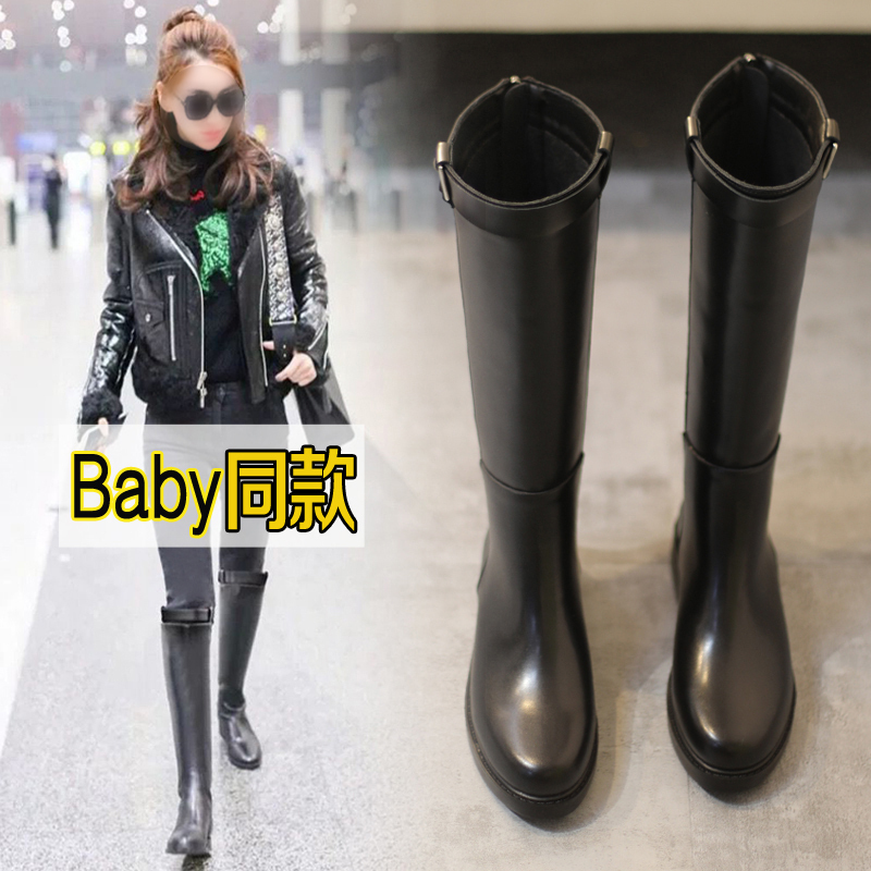 Cavalier boots womens new autumn / winter 2019 boots womens knee high boots, riding boots, leather boots, boots and bare boots