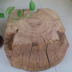 老榆木墩子原木树桩实木墩子风化花架底座摆件凳子茶几墩天然支架