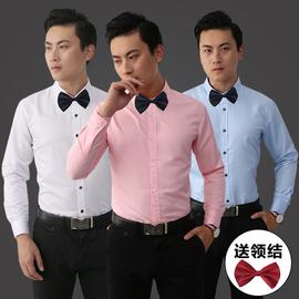 伴郎服新款春秋装男士长袖衬衫新郎伴郎兄弟团结婚礼服表演衬衫男