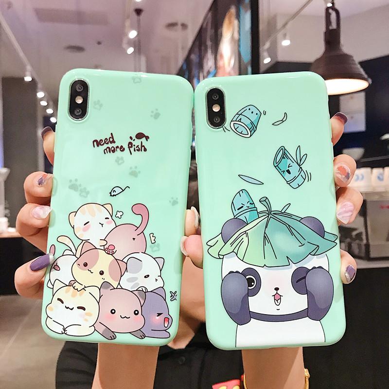 卡通熊猫抹茶绿小猫咪r15x k1手机壳热销11件需要用券