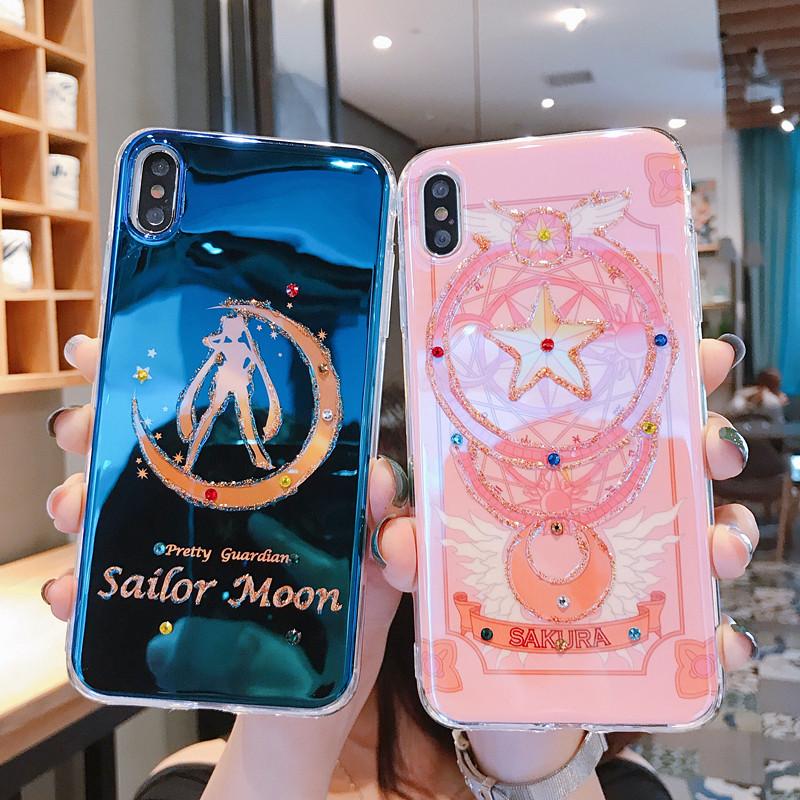 日韩可爱卡通魔法美少女小樱手机壳(非品牌)