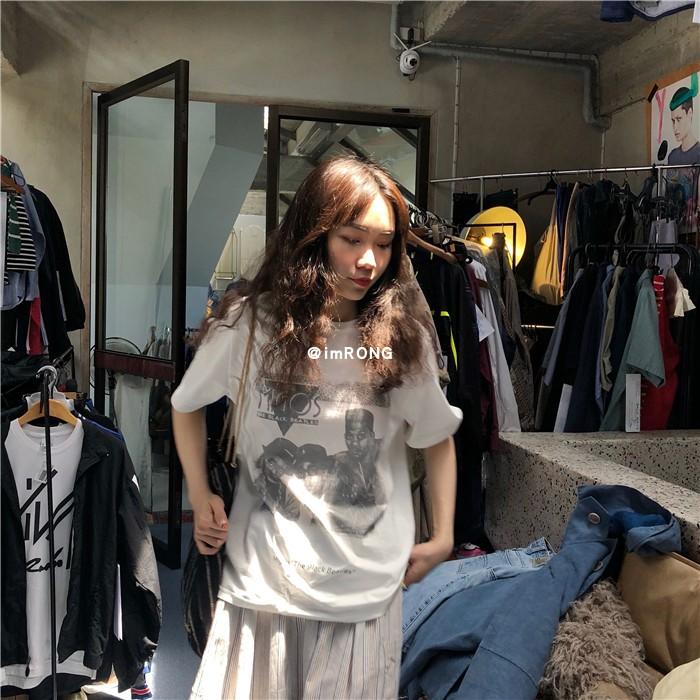 Roundshop | 自制 19SS/ 欧美说唱黑人头印花 丝光精棉 T恤短袖