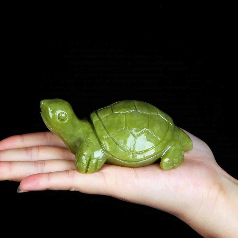 天然玉石雕刻乌龟镇宅辟邪小玉龟化煞风水招财岫玉长寿龟饰品摆件