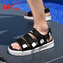 双星凉鞋男2020夏季新款潮流男士外穿运动休闲时尚拖鞋软底沙滩鞋