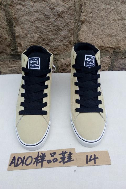 白色黑色ADIO高帮鞋男鞋样品鞋