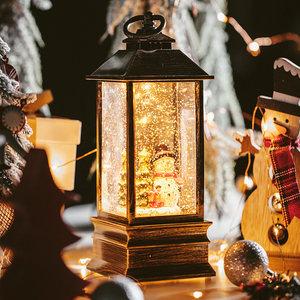 八音盒雪花音乐盒水晶球圣诞节老人小雪人圣诞树灯摆件礼物装饰品