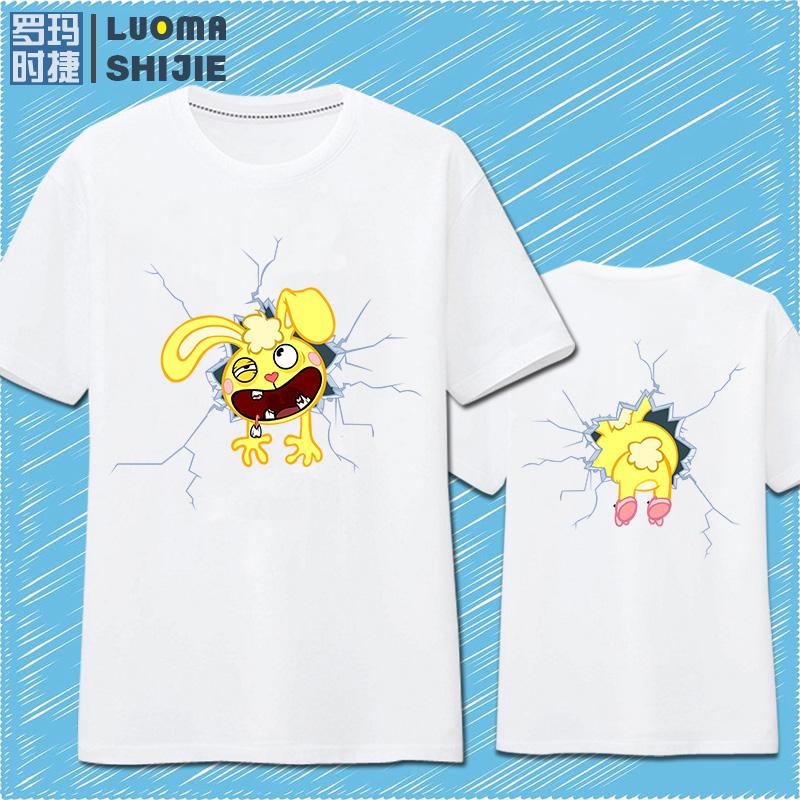 罗玛时捷美剧动漫周边欢乐树的朋友们创意趣味T恤衫男女青年个性