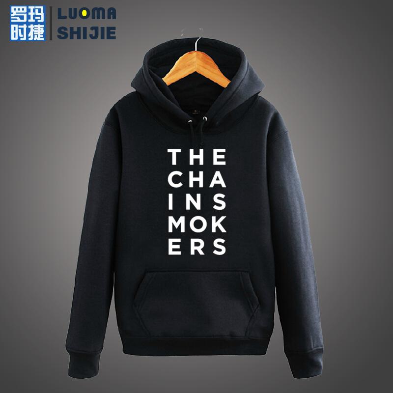罗玛时捷烟鬼组合 The Chainsmokers 老烟枪双人组 钱斯莫克卫衣