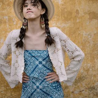 梦的马镂空针织衫短款开衫春夏防晒上衣配裙子小外套长袖气质外搭