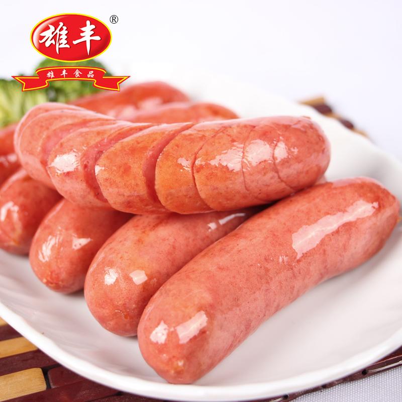 Xiongfeng колбаса оригинальная сумка 500gx4 ручная работа Жареная колбаса, торт для рук, хот-доги оптовые продажи Столовая колбаса завтрак