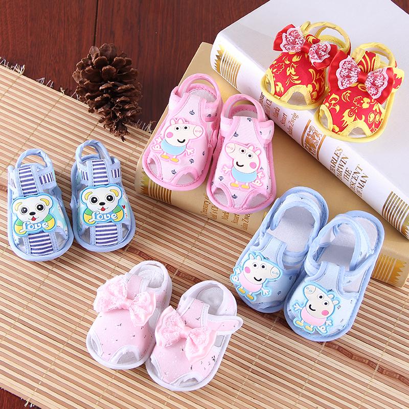 嬰兒鞋6-12月春夏秋涼鞋新生兒學步鞋男女寶寶0-1歲軟底新生不掉