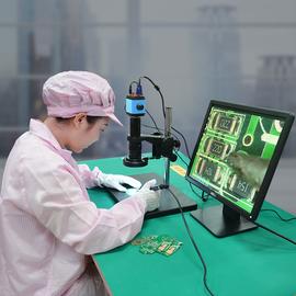 高品原装GP-660V 电子显微镜高清工业专业高倍视频数码CCD相机放大测量带显示器手机电路维修钟表3000/1000倍