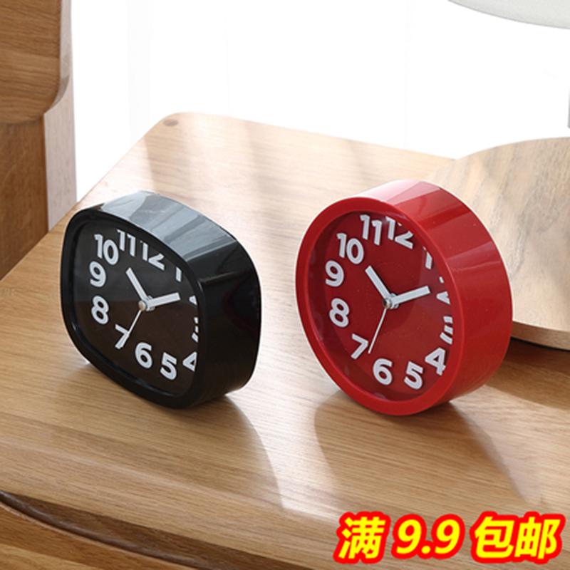 卡通创意个性学生儿童钟表床头静音石英钟客厅小摆件闹钟电子时钟(非品牌)