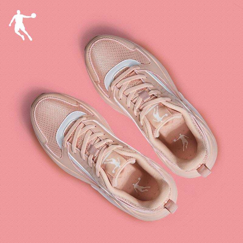 乔丹女鞋运动鞋2020夏季新款休闲跑步鞋女轻便透气学生软底老爹鞋