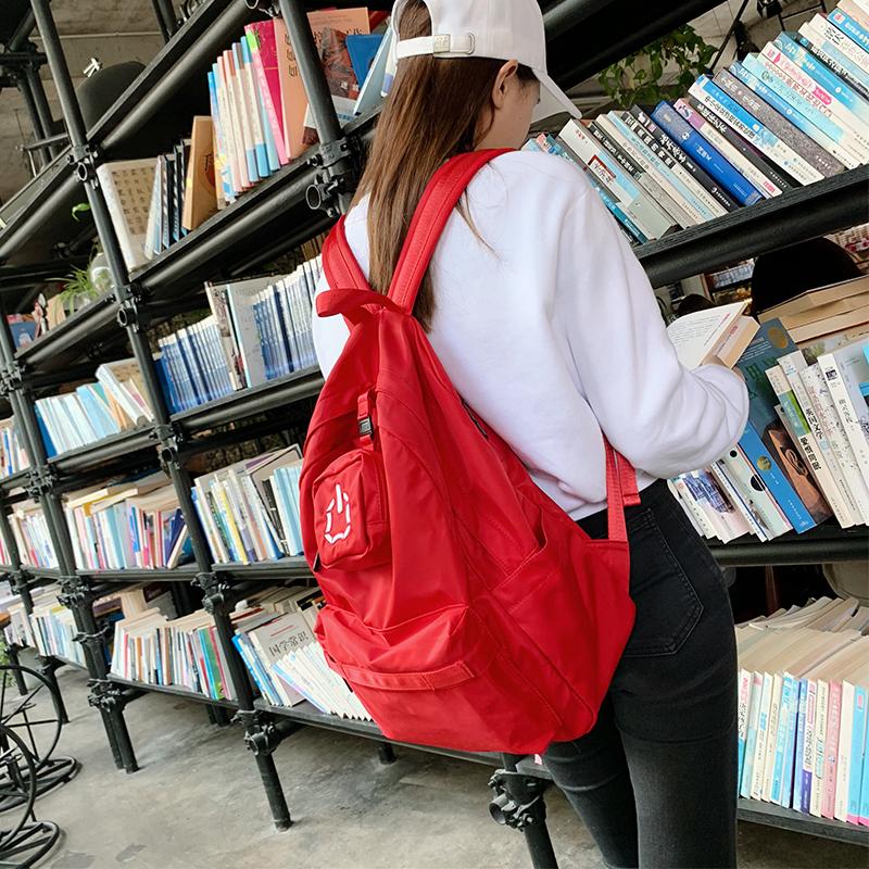 热销36件限时2件3折书包女韩版高中韩国森系学生双肩包古着感少女初中生校园背包简约