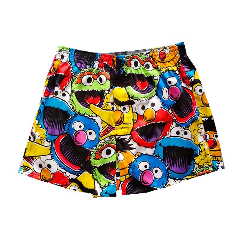 Loose mens and womens aro pants cartoon Sesame Street trendsetter cartoon loose breathable underwear pure cotton home pants