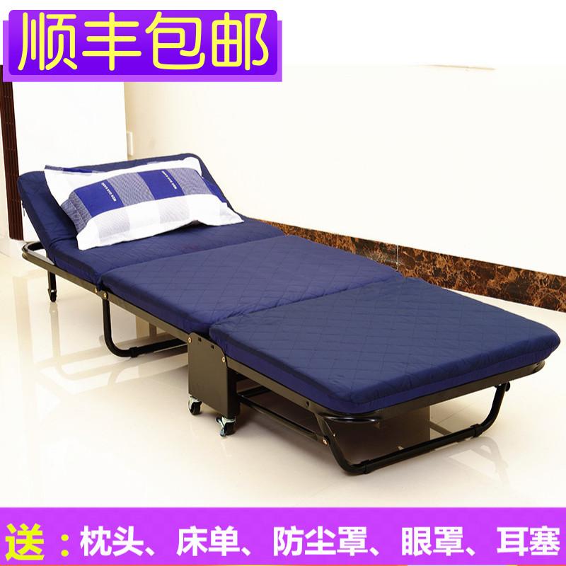 三折床双人海绵床折叠床午睡床办公室午休床木板床单人床陪护床