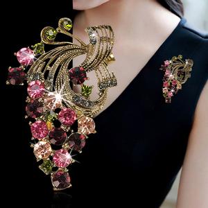 日韩时尚花朵胸针气质璀璨胸花毛衣扣外套毛衣领扣女丝巾扣配饰品