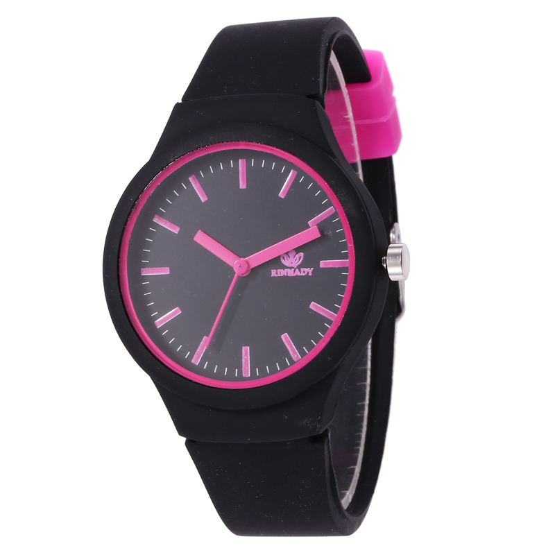 Simple leisure sports lovely clear scale silicone candy department primary and secondary school students electronic quartz lovers Watch