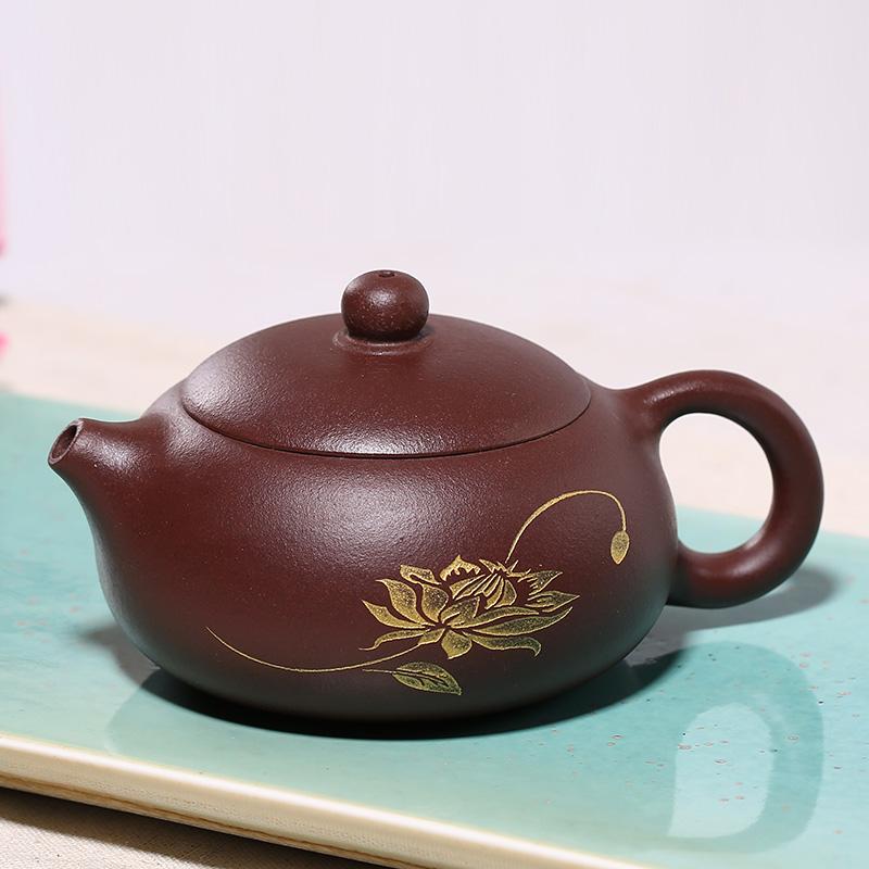 紫砂壺茶壺泡茶壺宜興名家整套裝純全 西施壺仿古石瓢功夫茶具