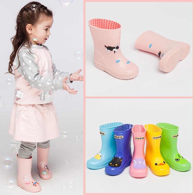 儿童雨鞋女水鞋幼儿小童防滑胶鞋小孩男童水靴学生中大童宝宝雨靴
