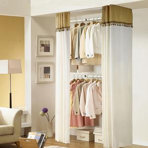 顶天立地衣架落地卧室开放式简易衣帽间置物架子组装衣柜衣帽架挂