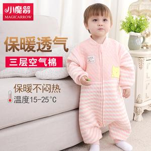婴儿睡袋春秋薄款儿童防踢被神器睡袋婴儿秋冬加厚宝宝四季通用款