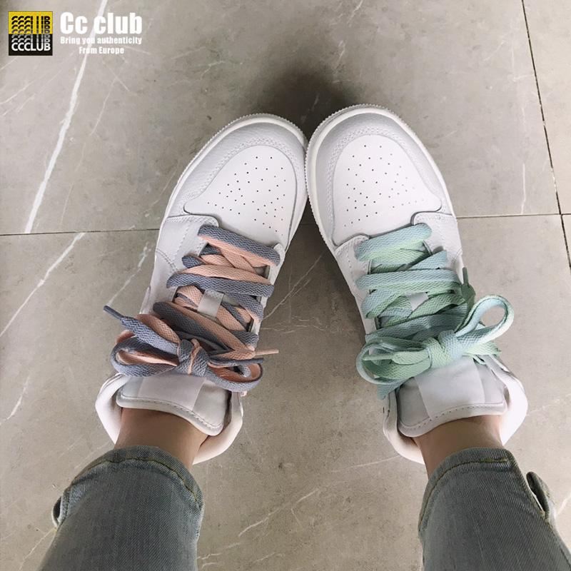 ccclub Air Jordan 1 Mid GS AJ1 男女纯白中帮篮球鞋 554725-126图片