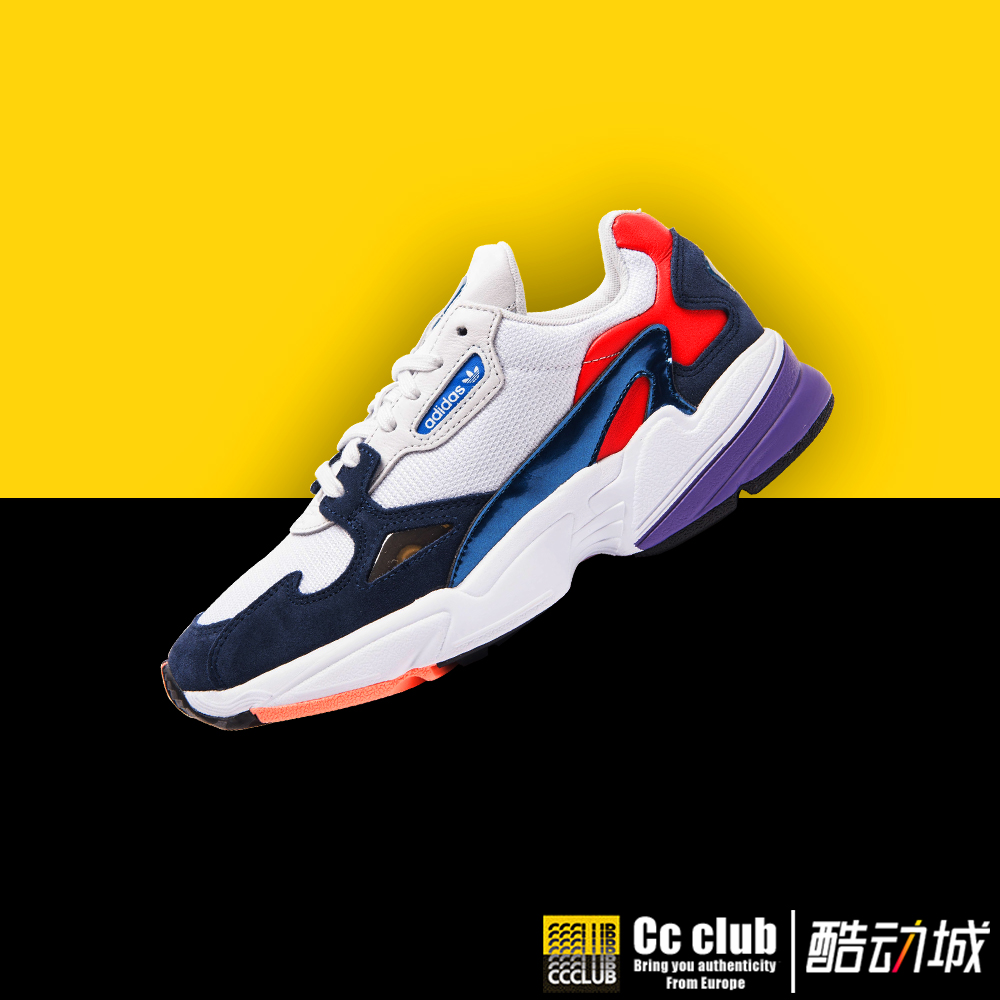 正品保证香港直邮ADIDAS Falcon W 复古老爹鞋 休闲跑步鞋 CG6246 C