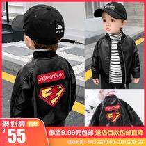 婴儿衣服棒球服皮夹克外套春装春秋宝宝男童皮衣小童1岁上衣X1262