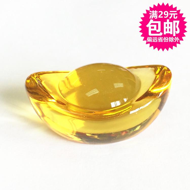 Полноценный имитация стекло золотой прозрачный кристалл стекло слиток награда поощрять дети приятно удивлен подарок миллионеров сокровище тибет игрушка