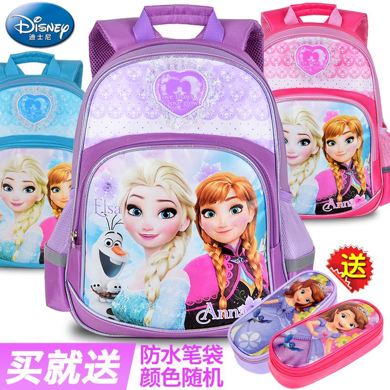 迪士尼書包小學生女童1~3一5年級4女孩冰雪奇緣公主兒童雙肩背包2