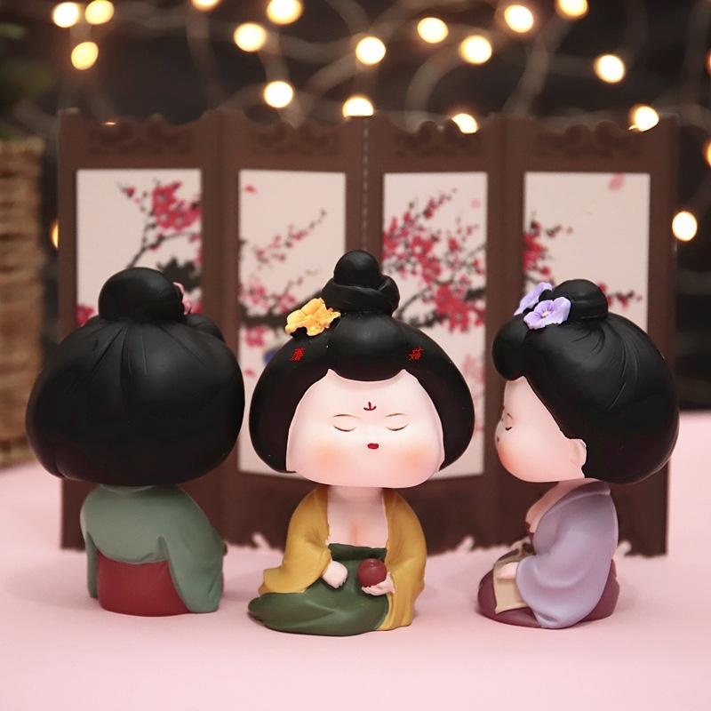 唐朝侍女摆件中国风小礼品可爱女孩礼物娘娘驾到礼品送宫廷风同学