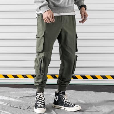 2018年冬季新款宽松口袋装饰工装裤男束脚A111-GZK003-P60控价118