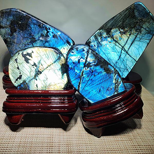 真品水晶原石矿石月光石蓝月光石橙月光拉长石摆件一物一图