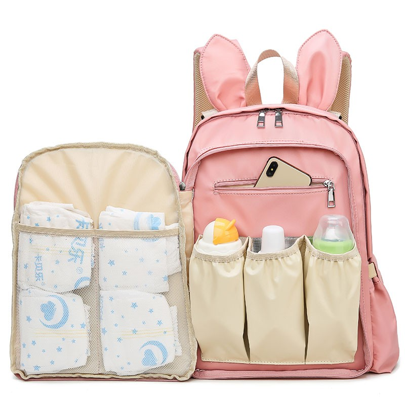 妈咪包大容量背包可爱兔耳朵减龄母婴...