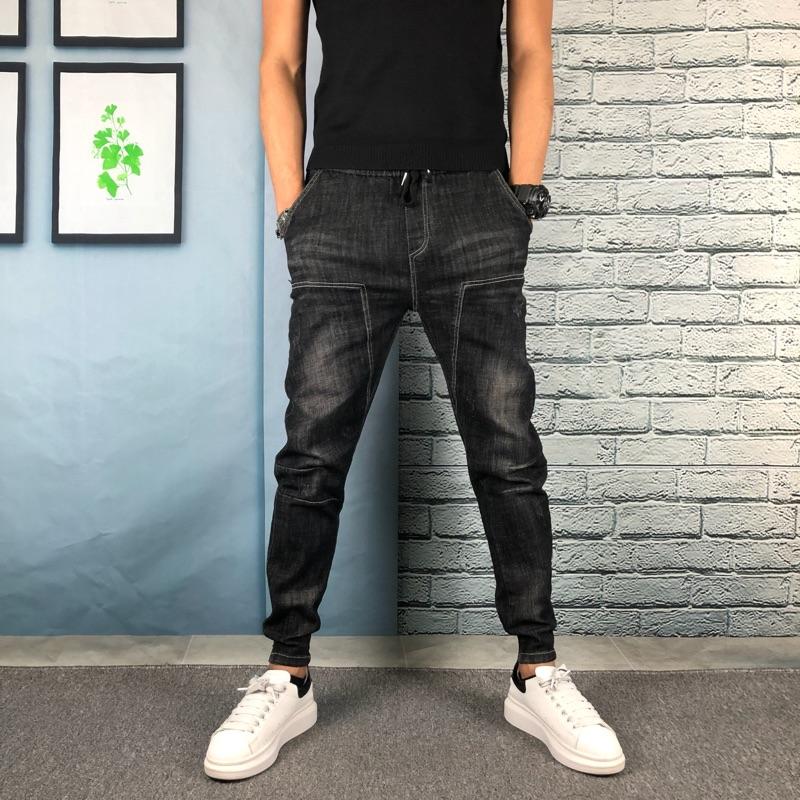 2008秋冬新款牛仔小脚裤时尚男装弹力修身显瘦韩版潮流束口小脚裤