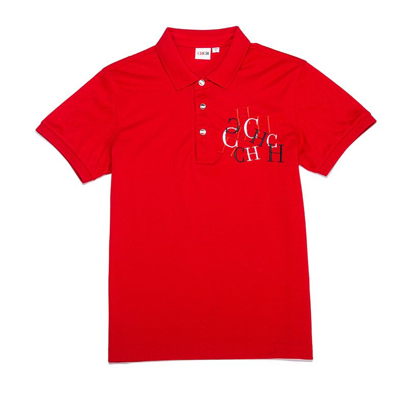 Chch / Qiqi work clothes T-shirt custom couple polo shirt embroidered cotton custom breathable Shirt Short Sleeve summer