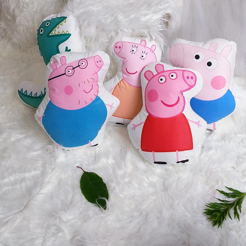 小猪佩奇可爱卡通毛绒玩具乔治恐龙儿童礼物公仔靠枕抱枕套